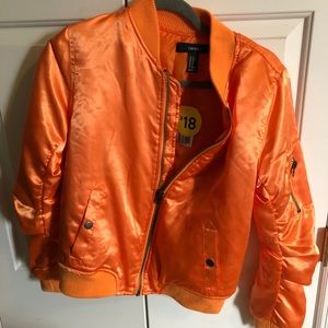 NWT orange Bomber jacket